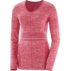 Salomon Elevate Move'On LS Tee Women Cerise/Fiery Coral